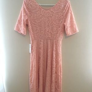 Light pink/coral lace formal dress